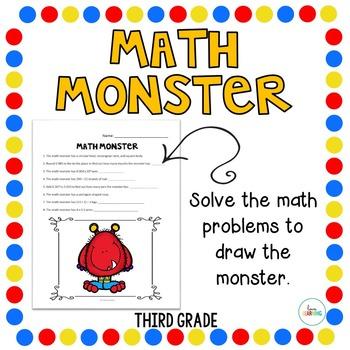 Create a Math Monster {3rd Grade}