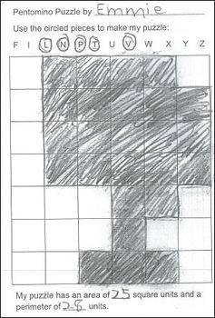 Create a Pentomino Puzzles Book to Reinforce Area and Perimeter