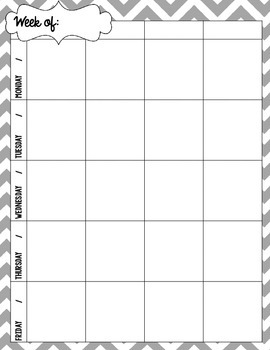 {Create a Planner} Weekly Layout