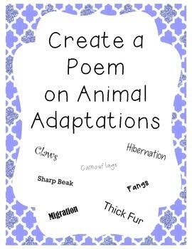Create a Poem: Animal Adaptations