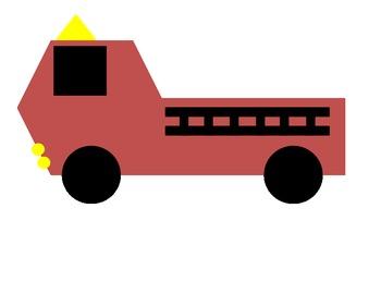 Create a firetruck using shapes