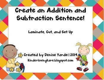 Create an Addition/Subtraction Sentence Center