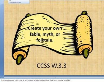 Create Your Own Myths, Folktales, and Fables Storyboard Wr