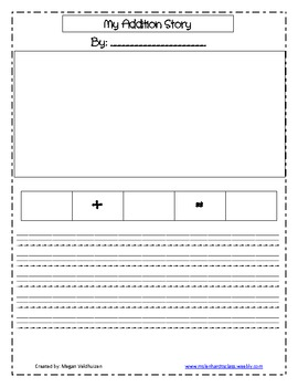 Create your own addition story