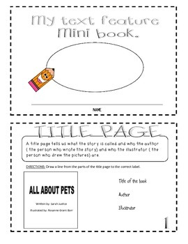 Create your own mini-book ( Text Features)