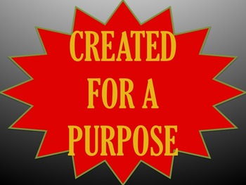 Created for a Purpose Bible Study for groups or individuals