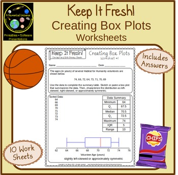 Box and Whiskers Activity Sheets