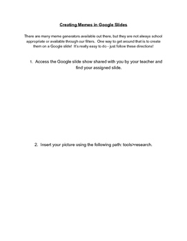 Creating Memes with Google Slides - A Screenshot Guide