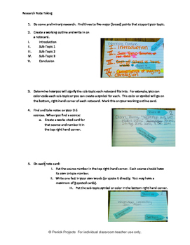 Creating Research Note Cards