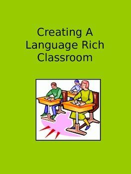 Creating a Language Rich Classroom