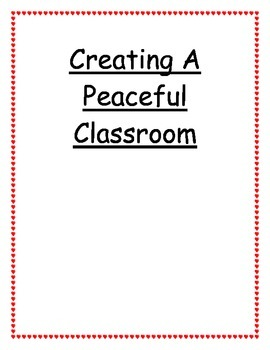 Creating a Peaceful Classroom