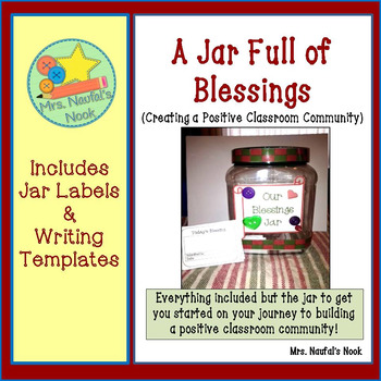 Classroom Community - A Blessings Jar