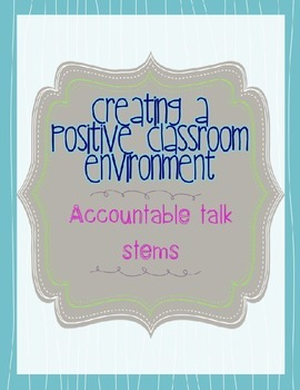 Creating a Positive Classroom Environment with Accountable