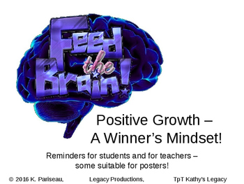 Creating a Positive Mind Growth - and Leaders - in the classroom!