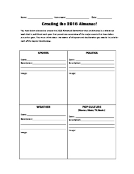 Creating an Almanac
