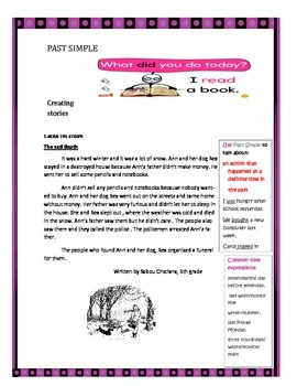 Creating stories 2- past simple