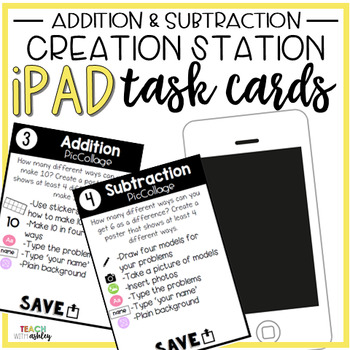 Creation Station Task Cards {Addition & Subtraction}