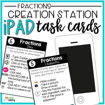 Creation Station Task Cards {Fractions}