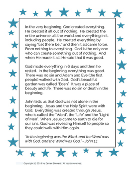 Creation Story Bible Study for Kids