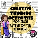 Creative Thinking Activities for Each Letter of the Alphabet