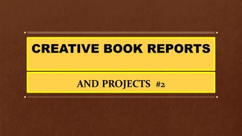 Creative Book Report Projects  #2