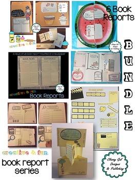 Creative Book Reports * Book Project  * Craftivity * Bundle