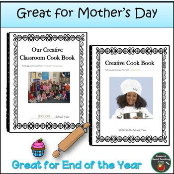 Creative Cookbook Handwriting and Creative Writing Keep Sake!