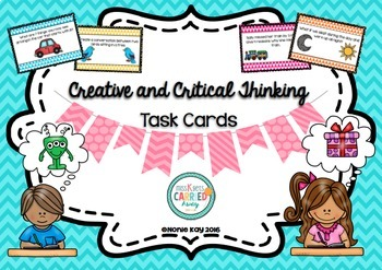 Creative & Critical Thinking Task Cards! AND Print & Go wo