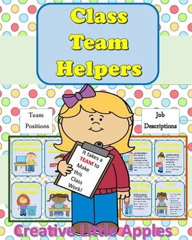 Creative, Cute, and Fun!!! Classroom Responsiblities for T