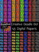 Creative Doodle Dot Papers {Creative Clips Digital Clipart}
