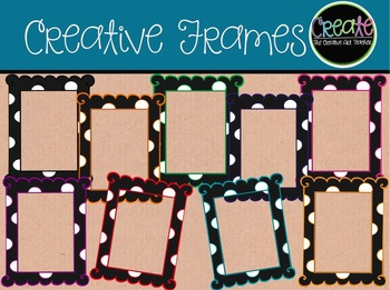 Creative Frames - Digital Clipart