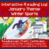 January Reading Log Winter Sports Theme