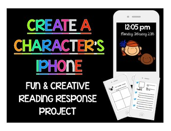 Creative Reading Project For Any Novel: Create A Character