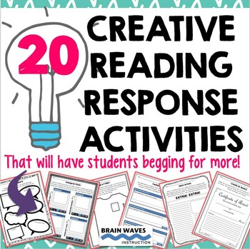 Reading Response Activities - 20 Creative Reading Response