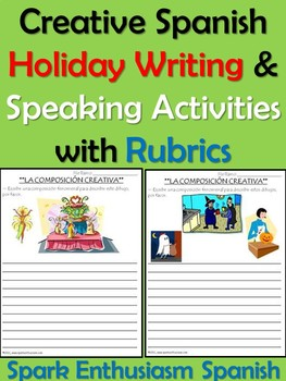 Creative Spanish Holiday Writing & Speaking Activities wit