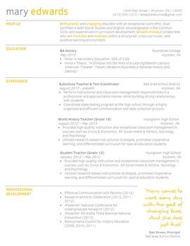 Creative Teacher Resume - Simply Orange Classic Template