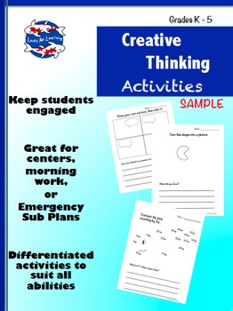 Creative Thinking Activities (K-5 sample)