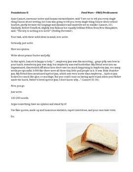 Creative Writing - Food