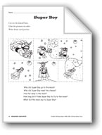 Creative Writing Ideas-Sequence and Write: Super Boy
