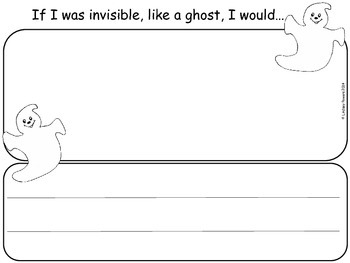 """Creative Writing """"If I was a ghost"""""""