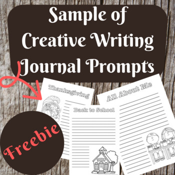 Creative Writing Journal Pages and Prompts