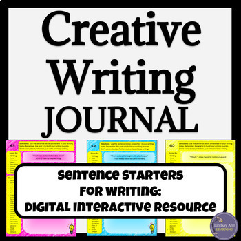 Creative Writing Activity: Digital Interactive Journal Prompts