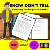 Creative Writing Lesson 1: Show, Don't Tell Google Drive D