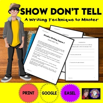 Creative Writing Lesson 1: Show, Don't Tell Google Drive D
