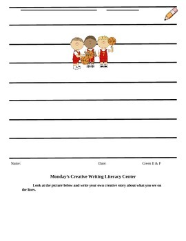 Creative Writing Literacy Center Materials