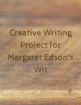 Creative Writing Poetry Project for Margaret Edson's Wit