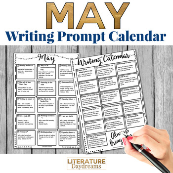 Creative Writing Prompts Calendar - May