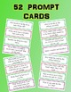 Creative Writing Prompts, Cards, and Check-list Posters