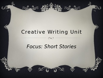 Creative Writing Short Story PowerPoint