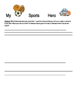 Creative Writing: sports hero
